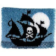 "Spinrite 426160 Wonderart Latch Hook Kit 15""X20"" Pirate Ship New"