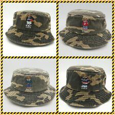 Bucket Hat Teddy Bear Camouflage Series Embroidery Unisex Sport Cotton Vintage
