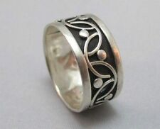 STERLING SILVER PATTERNED MEXICO BAND RING WITH HALLMARK **