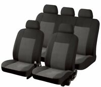 Sumex Universal 11pc Velour Non-Woven Car Seat Covers Set - Texas Black & Grey
