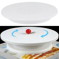 Turnable Rotating Revolving Birthday Cake Plate Turntable Cake Decorating Stand