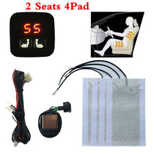 5-Level Digital Display Switch+ 12V Carbon Fiber 2 Seats Car Heated Seat Heater