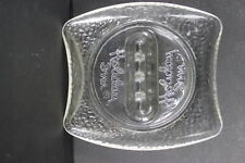 Vintage Holiday Inn Motel Hotel Ashtray Clear Pebbled Glass 4 Rests Advertising