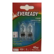 20x G9 40w Eveready Warm White DIMMABLE bulbs Watt 240V Clear (10 Twin Packs)