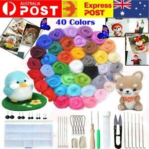 40 Colour Wool Felt Needles Tool Set + Needle Kit Felting Mat Starter Gift DIY