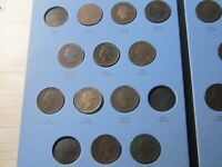 1859-1920 Canada LARGE CENTS Coins Collection – 38 Coins  VG-VF Cond  Lot# 70-52