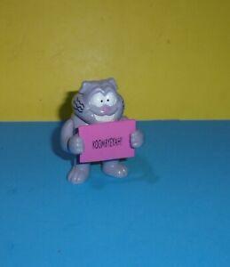 """3.5"""" Eek! THE CAT PVC Figure Hardee's 1995 FOX Kids Cat Purple Koombyeyeah!"""