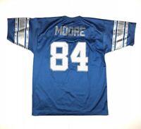 VTG Herman Moore Detroit Lions Football Jersey NFL Logo Athletic Blue Sz XXL