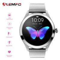 Lemfo KW10 Montre Intelligente Femme Etanche Cardiofréquencemètre Pour Huawei