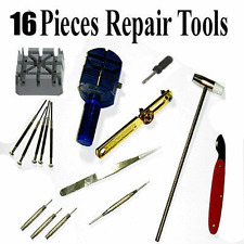 Strap Link Remover Back Opener Remover New 16pcs Watch Repair Kit Tools Band Pin