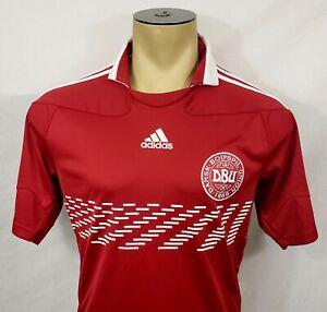2010-11 Adidas Denmark home soccer football jersey size Small