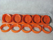 Soho Spices Set of 5 Orange See & Store Containers w/ Magnetic Spice Rack Board
