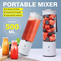 Portable 500ml USB Electric Fruit Juicer Smoothie Maker Shaker Bottle Cup XZC