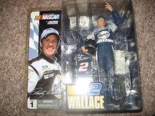 """McFarlane NASCAR 2003 Series 1 Rusty Wallace """"Rusty 2-Elvis Hat"""" Blue Jersey"""
