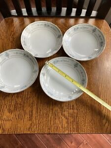 4 Wade Fine Porcelain China Berry Bowls In The Elington Pattern, Made In Japan
