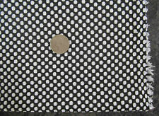 Fabric lot 3 continuous yards Black and white soft yarn dyed knit dot pattern