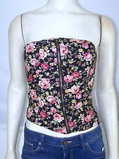 Poetry Black Red Green Strapless Padded Tube Top Juniors Size Small 3 5