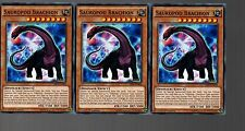 Yugioh Cards - Playset Of 3x Sauropod Brachion SR04-EN008 1st Edition