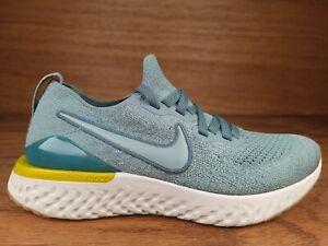 Nike Epic React Flyknit 2 Womens Running Shoes Sz 8.5 (7Y) Blue Grey AQ3243-005
