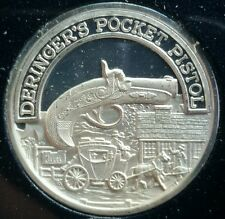 NRA Deringer's Pocket Pistol .999 Silver Medal 4,000 Minted ☆
