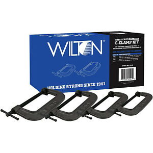 Wilton 11115 High Strength Industrial 540A Series Carriage C-Clamp Kit, 4 Pack