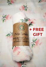 Muslin Swaddle Blanket Large 120x120cm Organic Cotton + Bamboo Newborn Baby Gift