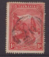 Tasmania numeral cancel on 1d pictorial