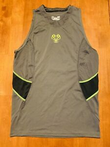 Under Armour Mens Tank Top Basketball Shirt Fitted Heat Gear Size Large