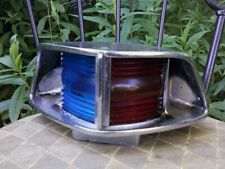 Vintage Boat Directional Deck Light Red, Blue & Chrome
