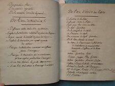 BEAU MS in-4 vers 1770 : PENSEES, ART D'ECRIRE, FABLES, SUBLIME...