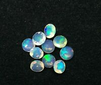 2 Pcs Natural Ethiopian Opal 6x6 mm Round Faceted Cut Loose Gemstone AQ31