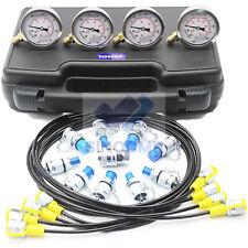 Max 60Mpa Hydraulic Pressure Gauge Test kit Excavator Pressure Diagnostic Tool