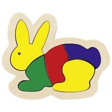 Goki Einlegepuzzle Setzpuzzle Hase Häschen Tierpuzzle Kinderpuzzle Holzpuzzle