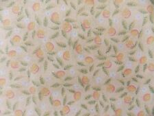 """WtW Fabric Floral Fruit Garden Nature 60"""" W Vintage Country Folk Pattern Quilt"""