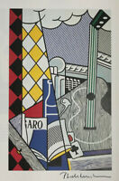 ROY LICHTENSTEIN HAND SIGNED * CUBIST STILL LIFE WITH PLAYING CARDS  * PRINT