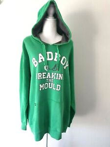 Y2K Bad Boy Mens Green Long Sleeve Hoodie Size XXL