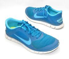 Mens Nike Free 4.0 V3 Size 11 US Blue Running Shoes