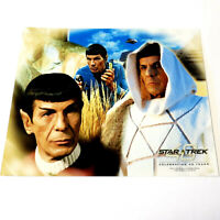 *LEONARD NIMOY* MR. SPOCK Star Trek PHOTOGRAPH 8x10 TOS Picture 40 Yrs Composite