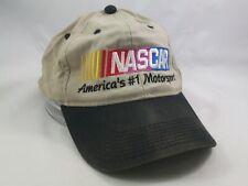 Nascar America's Number 1 Motorsport Hat Black Beige Strapback Baseball Cap