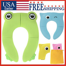 Potty Seat Folding Training Travel Portable Toilet Cover Pad Baby Toddler Kids