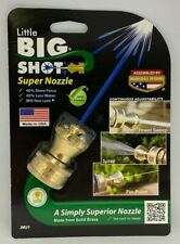 Little Big Shot Super Hose Nozzle Brass USA Garden Adjustable Variable Spray