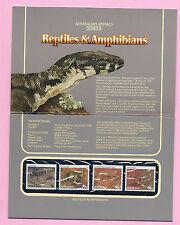 AUSTRALIA 1983 Presentation Stamp Pack - REPTILES & AMPHIBIANS (series II) MNH
