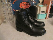 Jeffrey Campbell Boot Black Leather hiker hiking boots size 37