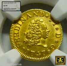"SPAIN 1747 1/2 ESCUDOS ""KING FERDINAND VI""  NGC 58! GOLD COIN"
