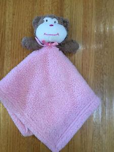 BLANKETS & BEYOND INFANT PLUSH MONKEY SECURITY BLANKET