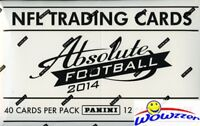 2014 Panini Absolute Football MASSIVE Jumbo Rack Box-480 Cards+AUTOGRAPH/MEM !