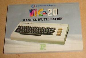 manuel d'utilisation Commodore VIC20