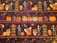 Debbie Mumm Cats Bats And Bones Halloween Fabric By the yard