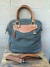 """""""Old Trend"""" Francesca Leather Canvas Tote Bag 15X17"""