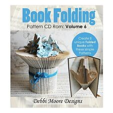 Debbi Moore Designs ~ Book Folding Pattern CD Rom ~ Volume 6 ~ Teapot, Cup + NEW